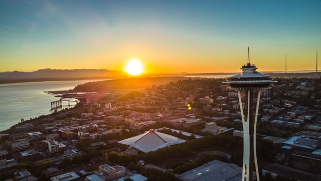 Sun Sets on Seattle